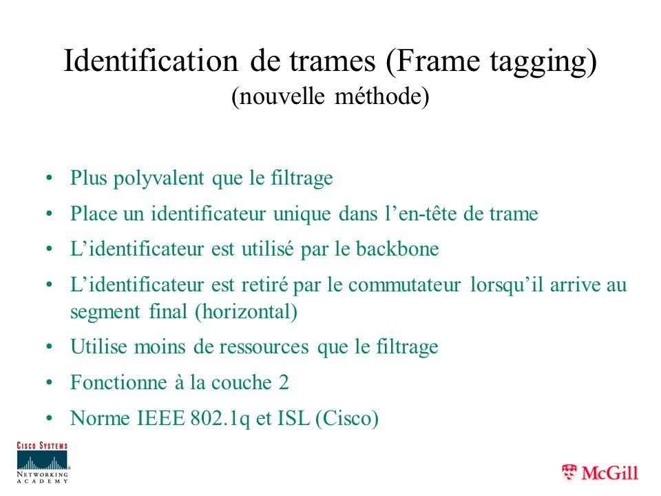Identification de trames (Frame tagging) (nouvelle méthode)