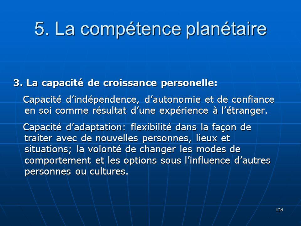 5. La compétence planétaire