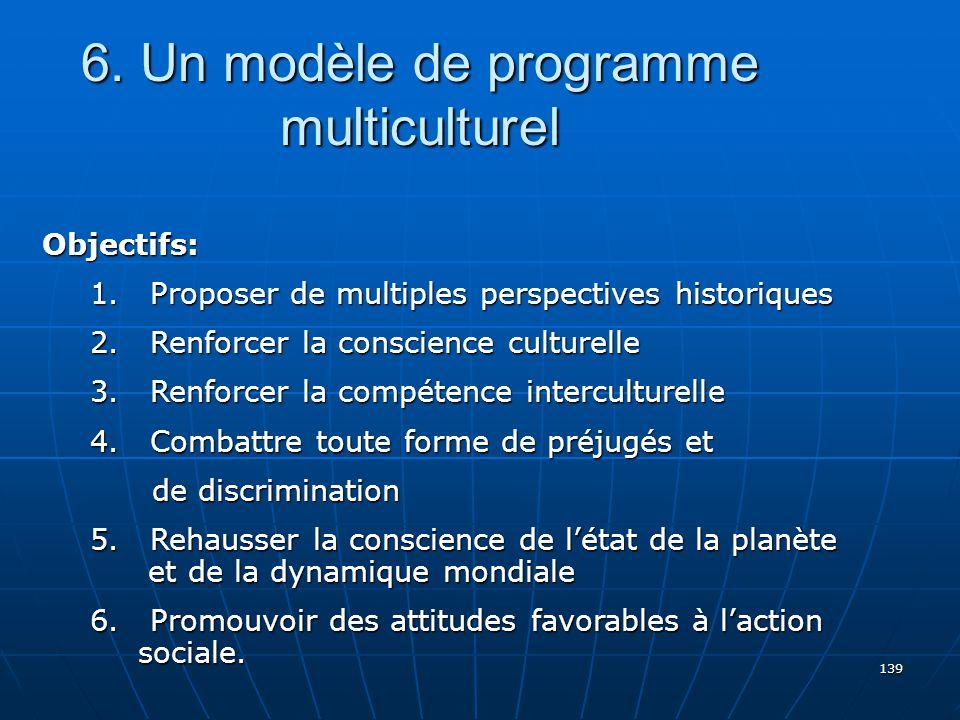 6. Un modèle de programme multiculturel