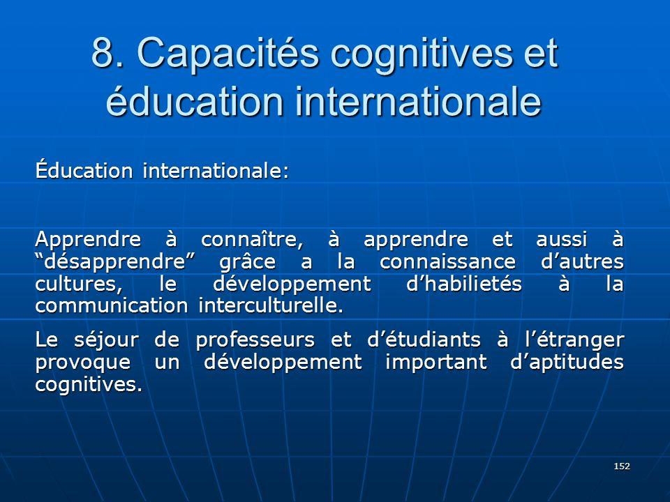 8. Capacités cognitives et éducation internationale