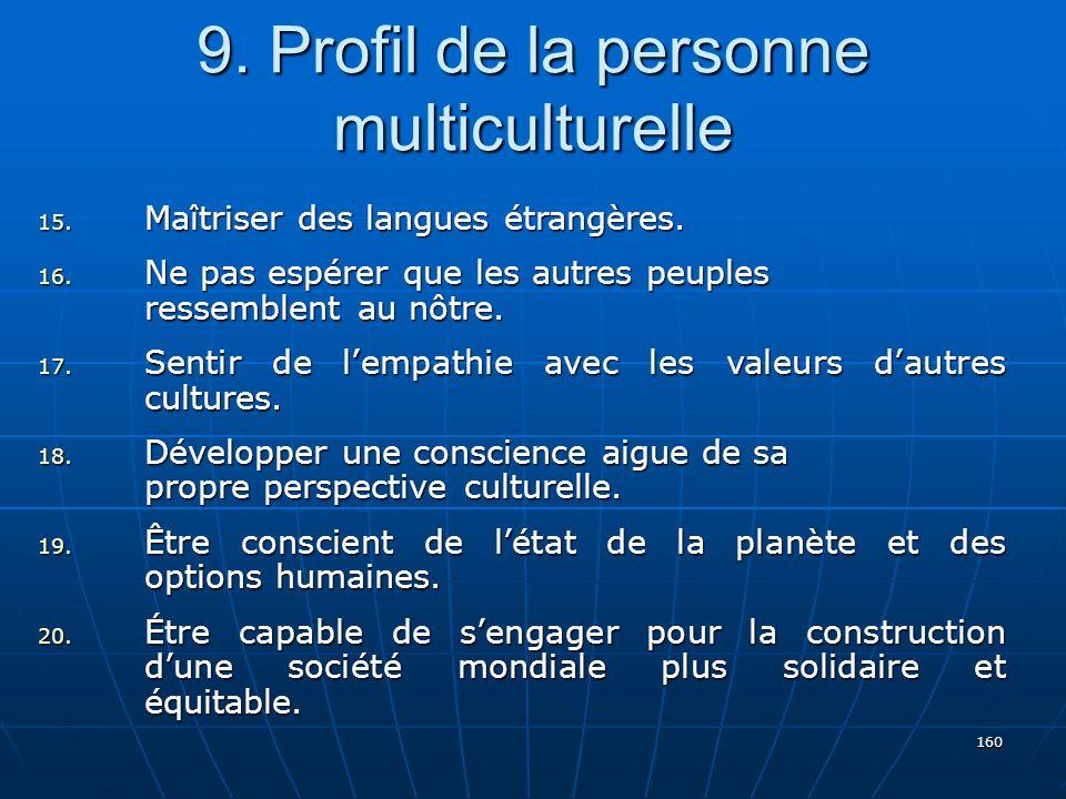 9. Profil de la personne multiculturelle