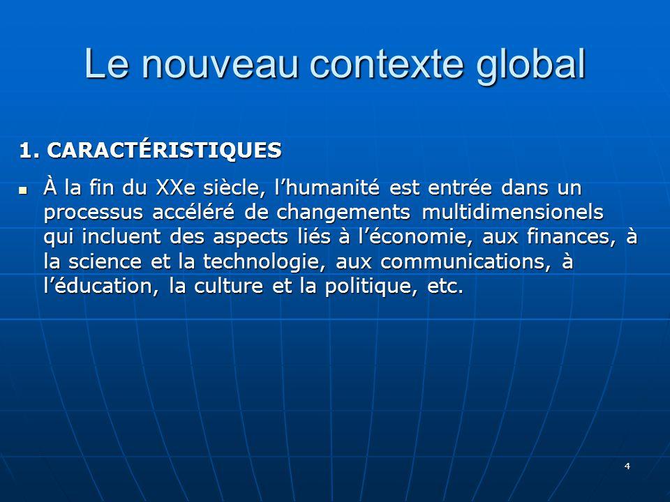 Le nouveau contexte global
