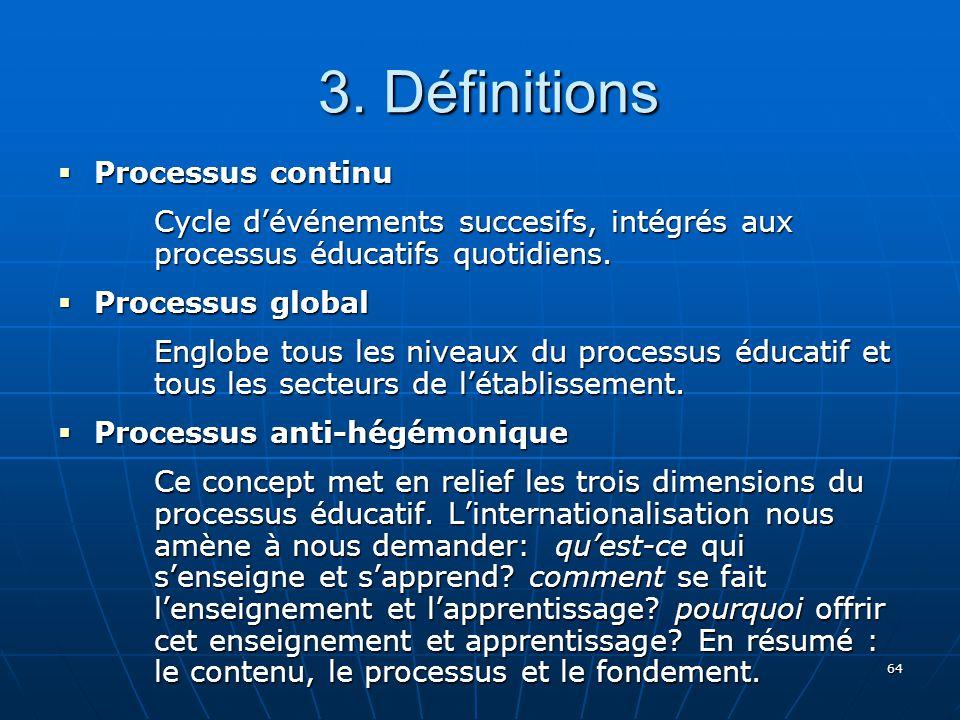 3. Définitions Processus continu