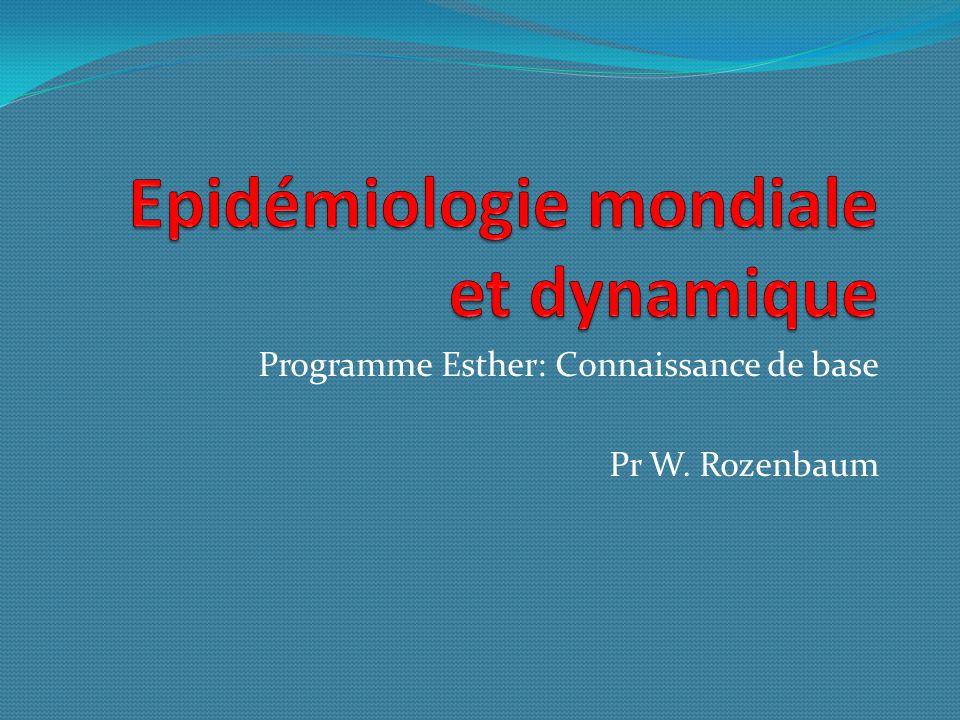 Epidémiologie mondiale et dynamique