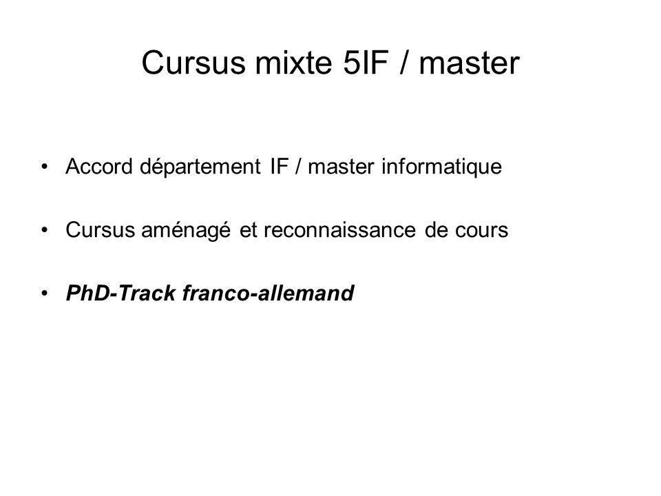 Cursus mixte 5IF / master