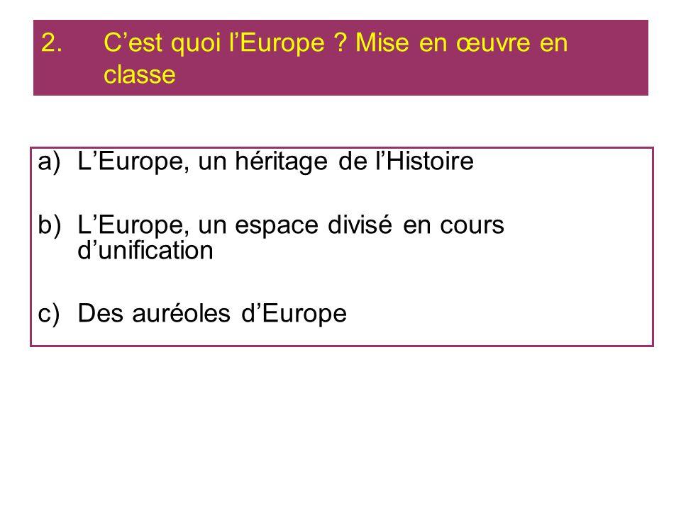 C'est quoi l'Europe Mise en œuvre en classe