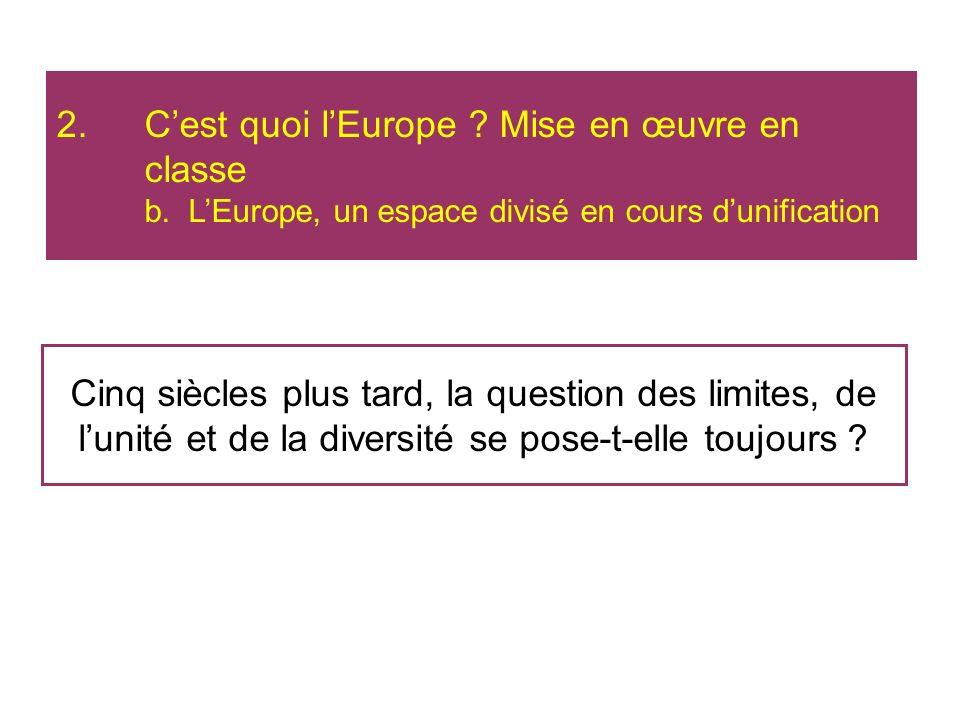 C'est quoi l'Europe. Mise en œuvre en classe b