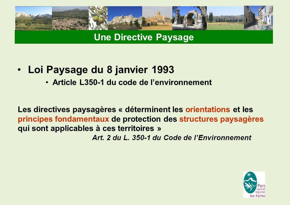 Loi Paysage du 8 janvier 1993 Une Directive Paysage