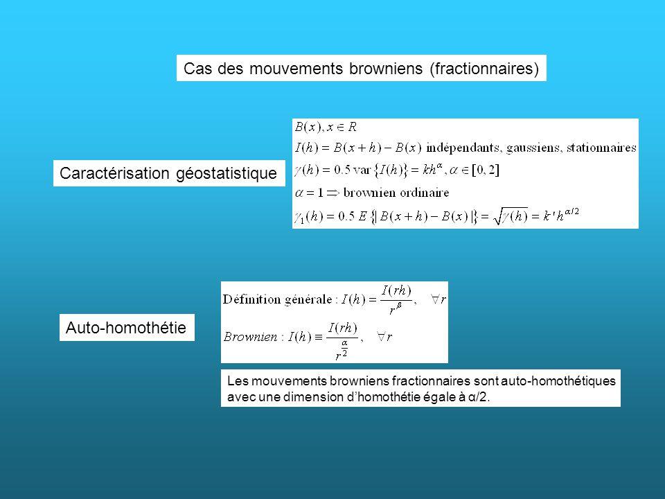 Cas des mouvements browniens (fractionnaires)