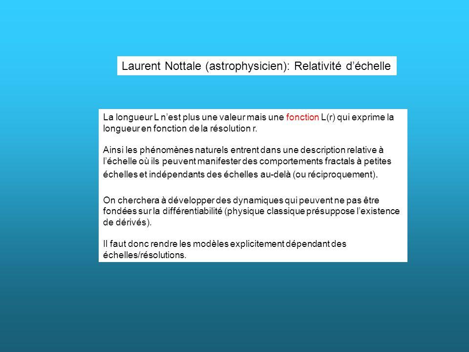 Laurent Nottale (astrophysicien): Relativité d'échelle