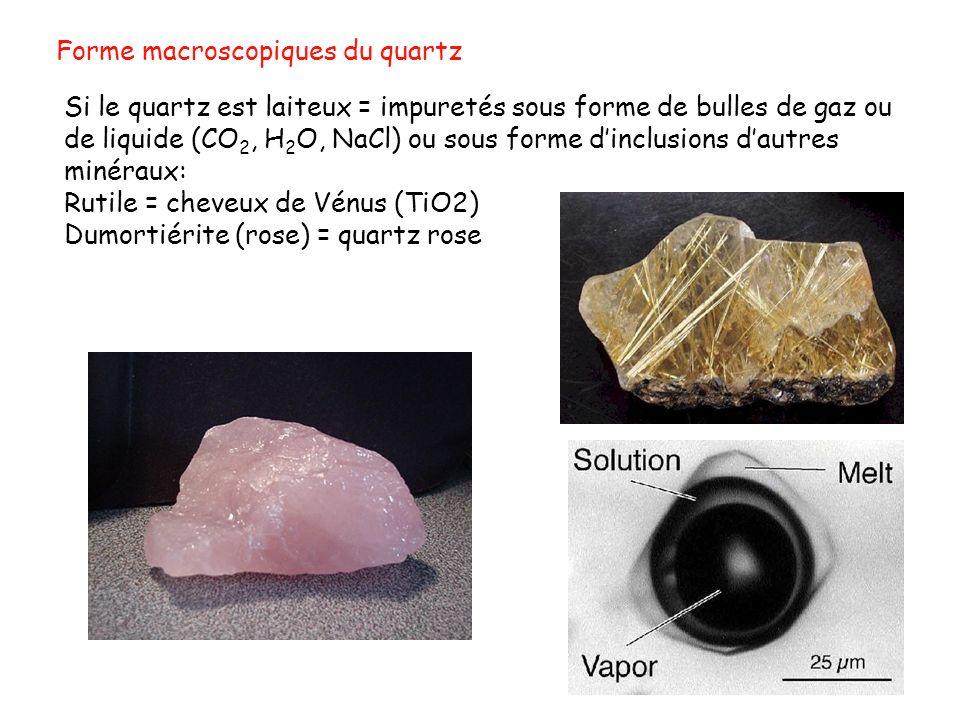 Forme macroscopiques du quartz