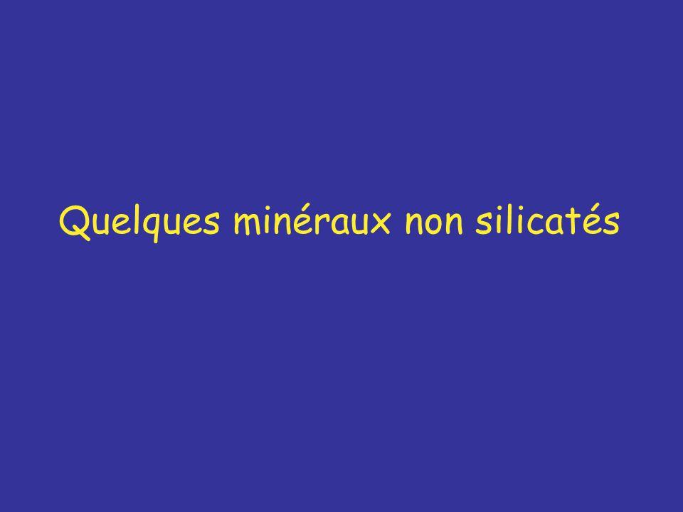 Quelques minéraux non silicatés