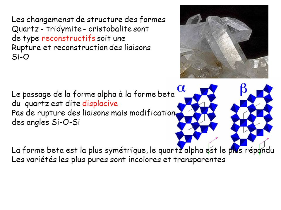 Les changemenst de structure des formes