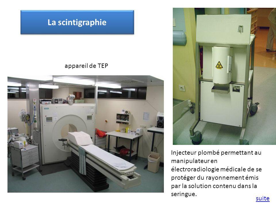 La scintigraphie appareil de TEP
