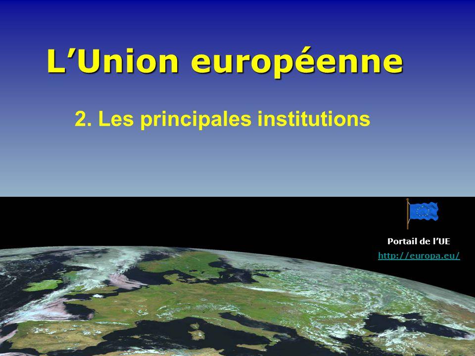 2. Les principales institutions