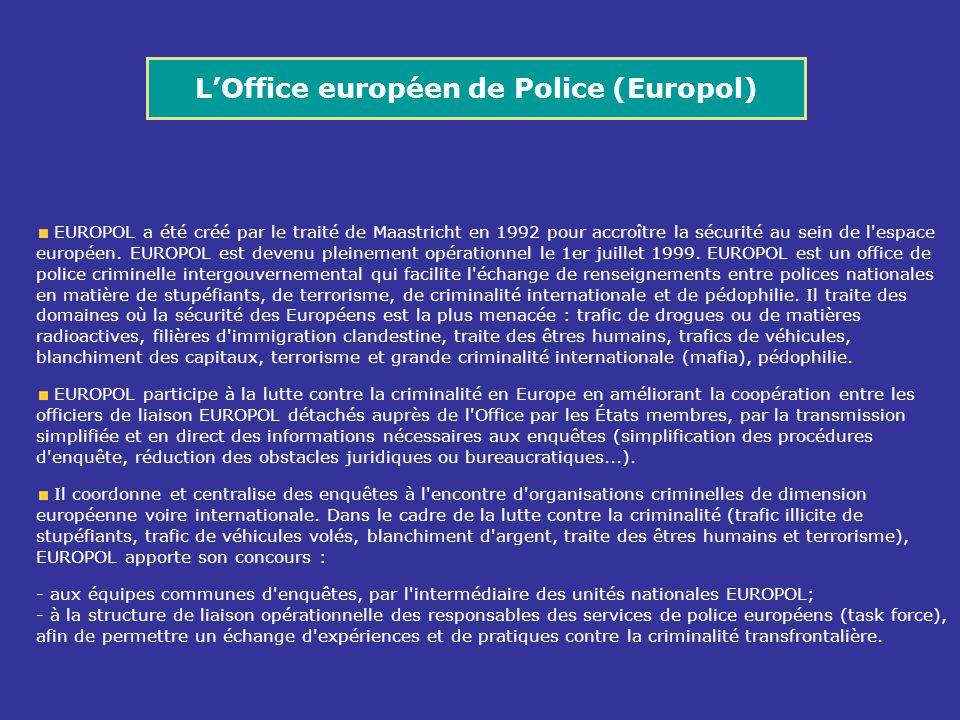 L'Office européen de Police (Europol)