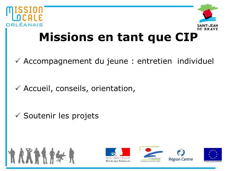 Missions en tant que CIP