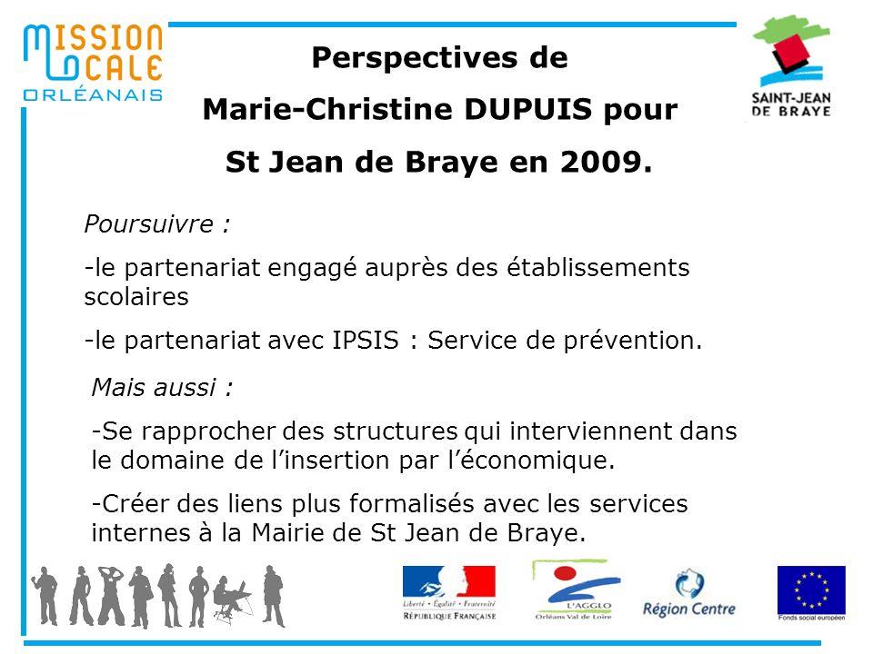 Marie-Christine DUPUIS pour