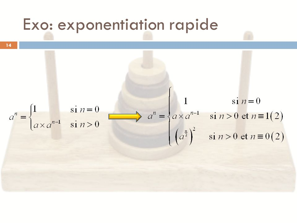 Exo: exponentiation rapide