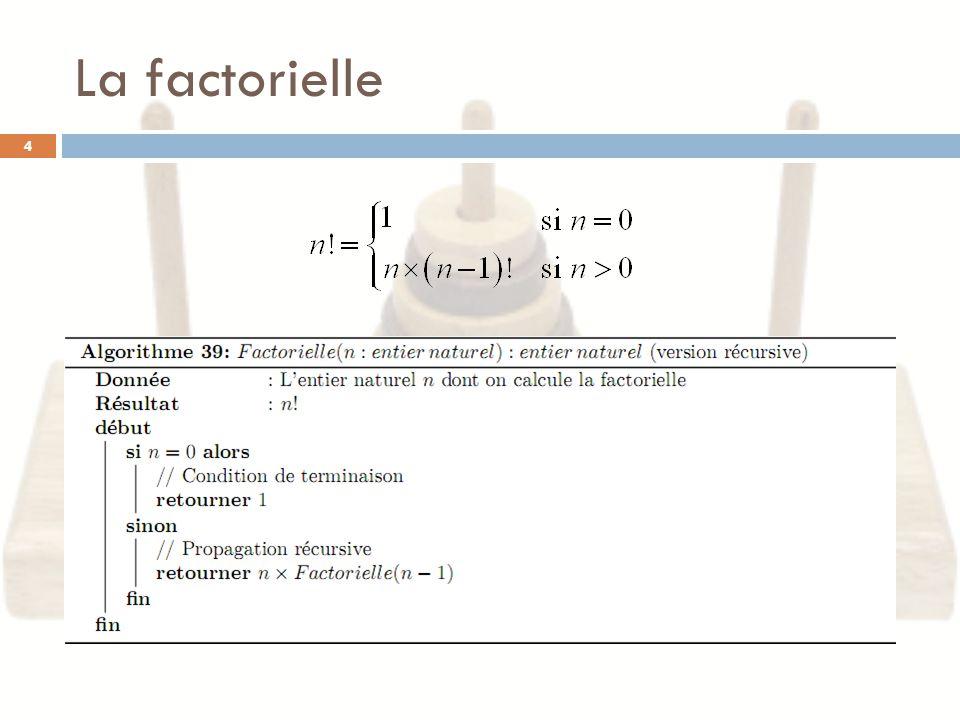 La factorielle