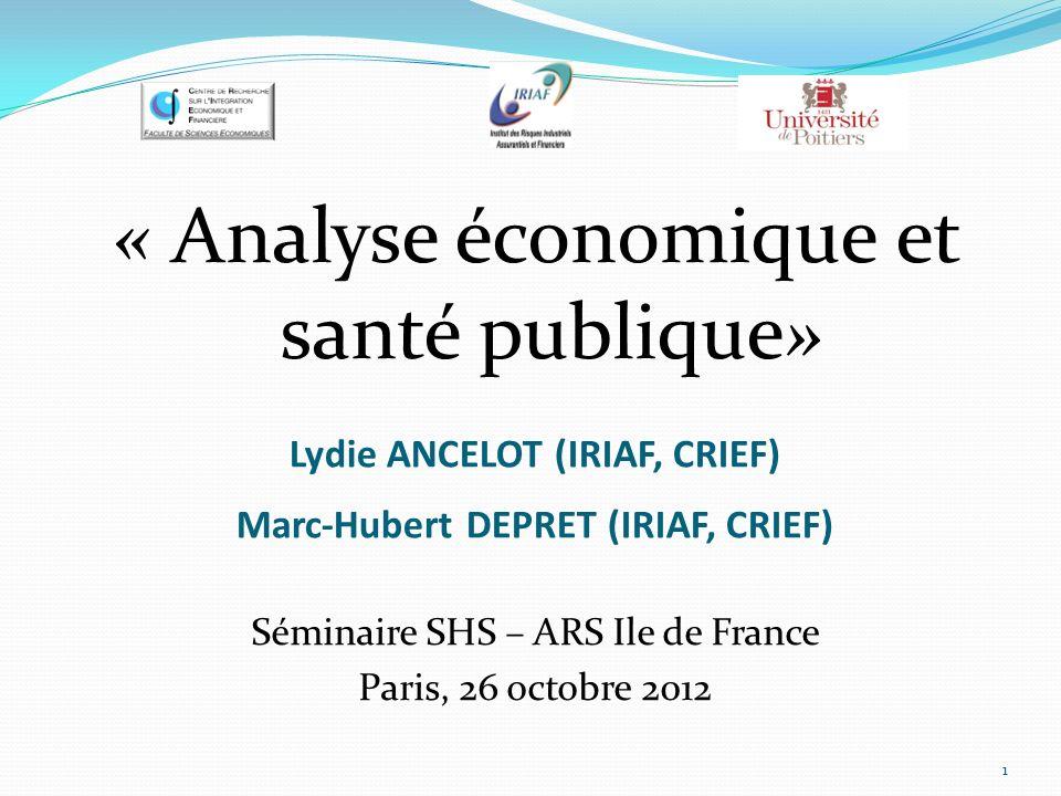 Lydie ANCELOT (IRIAF, CRIEF) Marc-Hubert DEPRET (IRIAF, CRIEF)