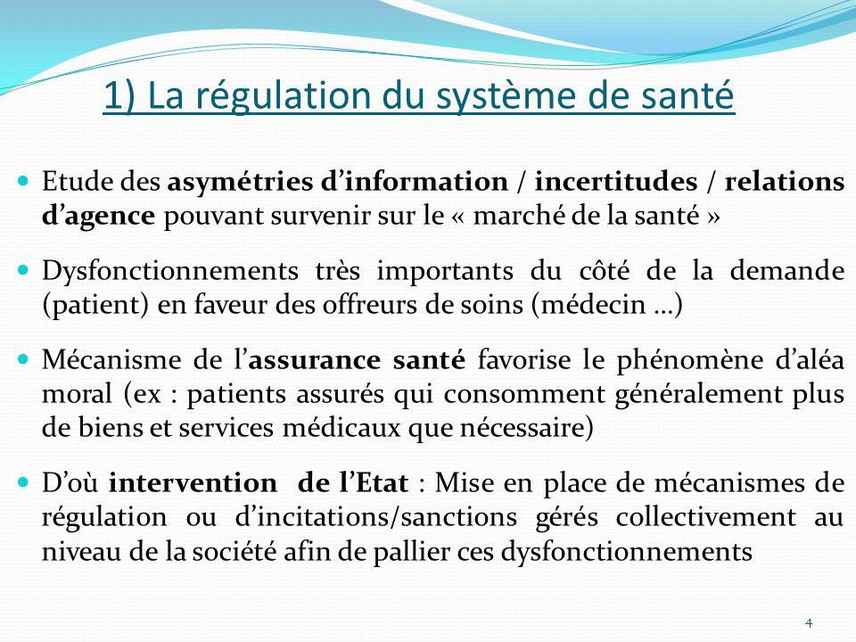 1) La régulation du système de santé