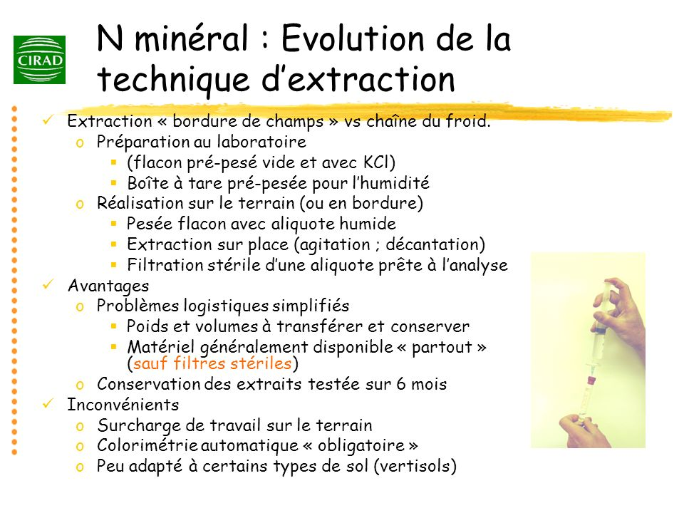 N minéral : Evolution de la technique d'extraction