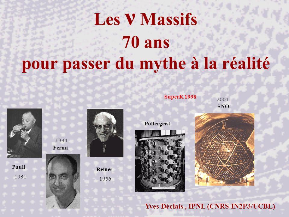 Les ν Massifs 70 ans pour passer du mythe à la réalité