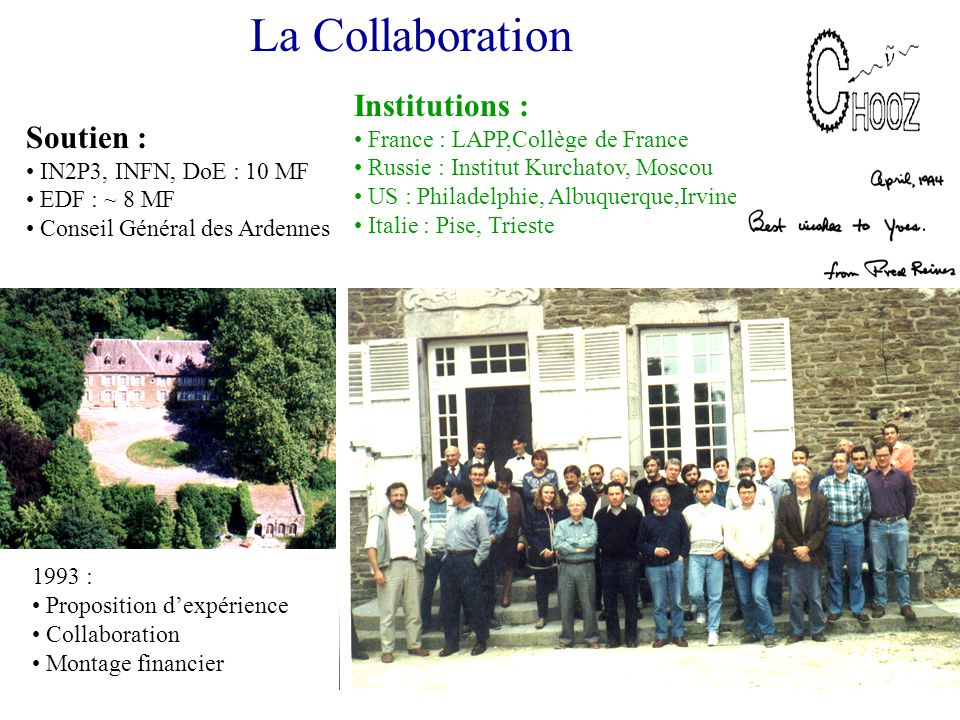 La Collaboration Institutions : Soutien :