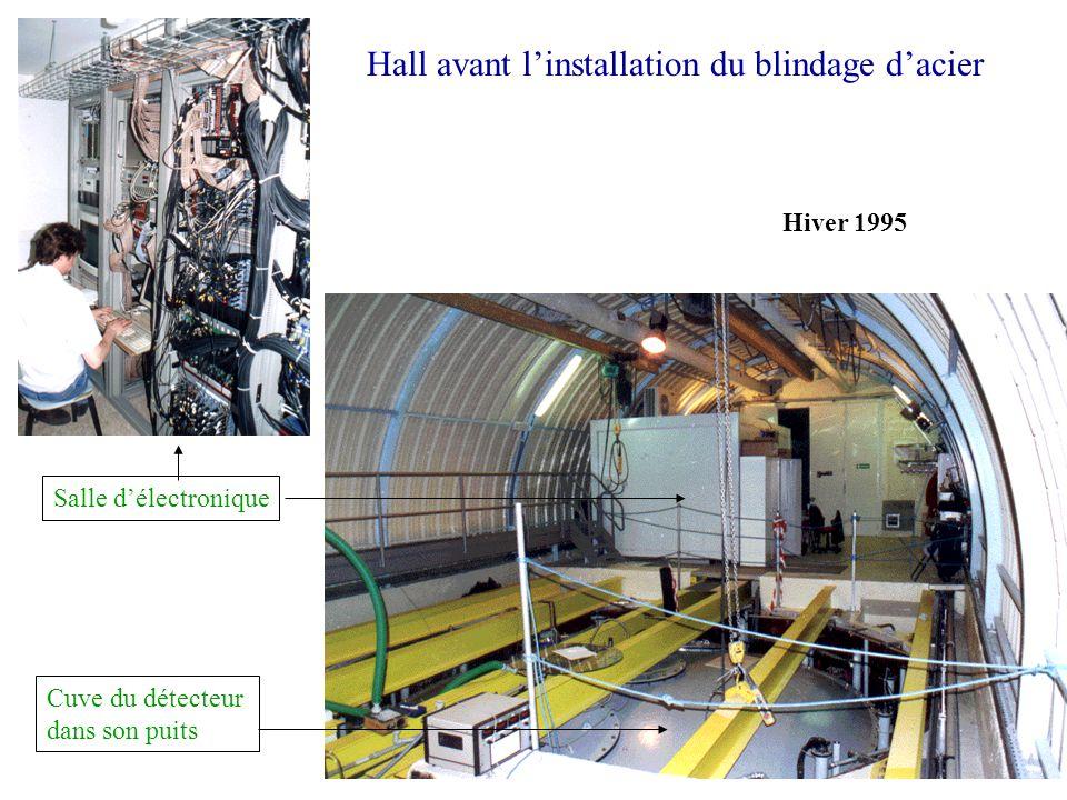 Hall avant l'installation du blindage d'acier