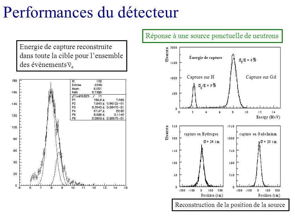 Performances du détecteur