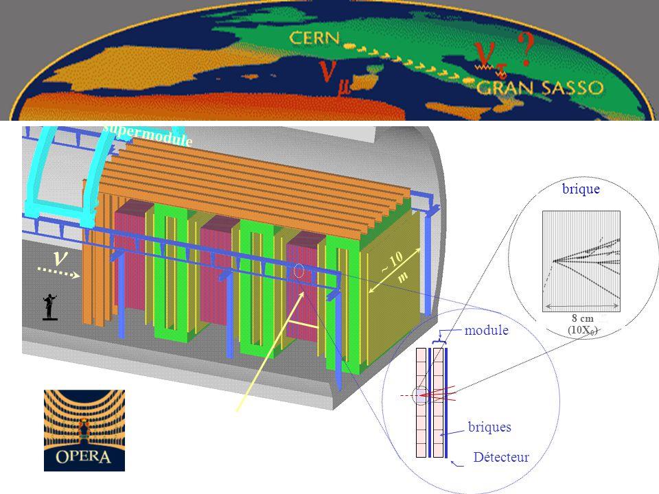 supermodule ~ 10 m n brique 8 cm (10X0) Détecteur briques module