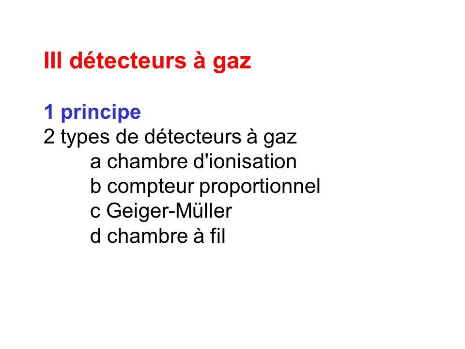 III détecteurs à gaz 1 principe 2 types de détecteurs à gaz