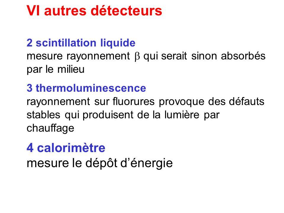 VI autres détecteurs 4 calorimètre mesure le dépôt d'énergie