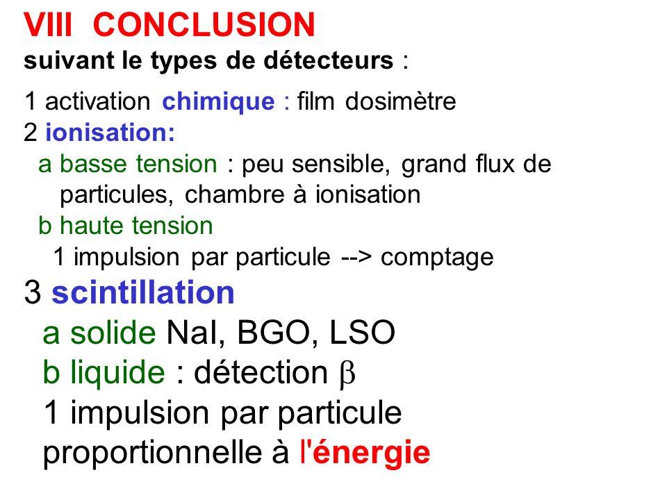1 impulsion par particule proportionnelle à l énergie