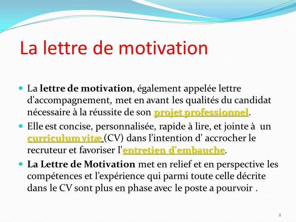 exemple lettre de motivation uniformation