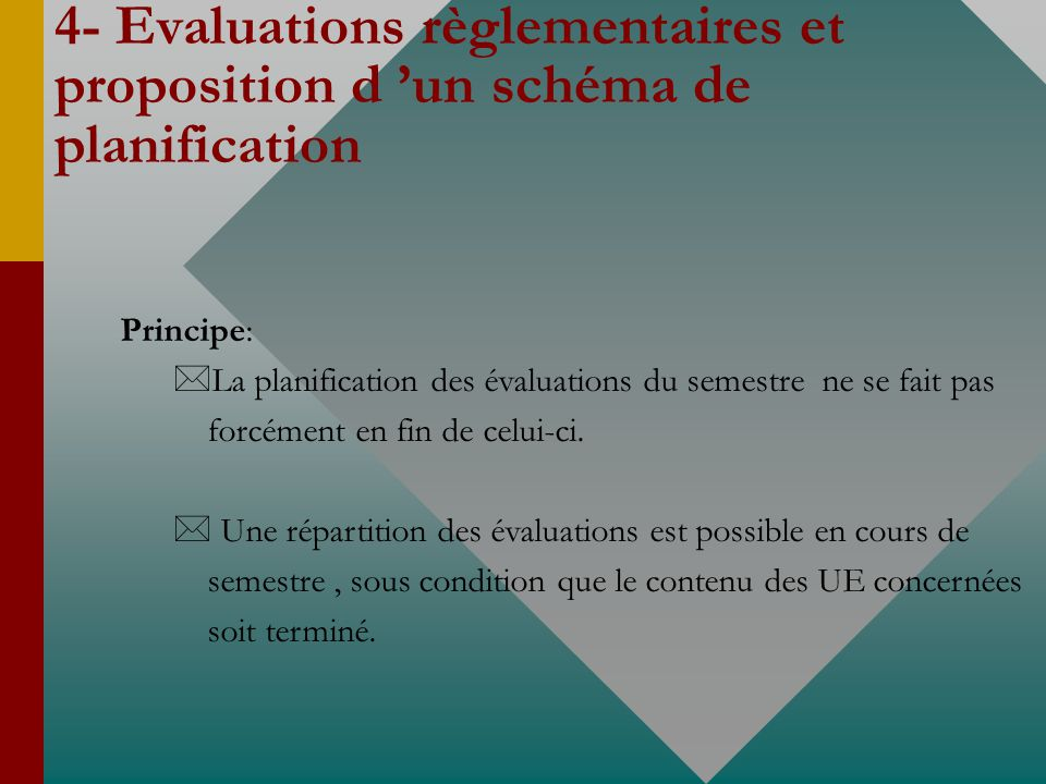 4- Evaluations règlementaires et proposition d 'un schéma de planification