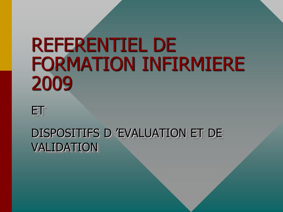 REFERENTIEL DE FORMATION INFIRMIERE 2009