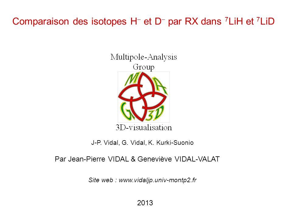 Comparaison des isotopes H− et D− par RX dans 7LiH et 7LiD