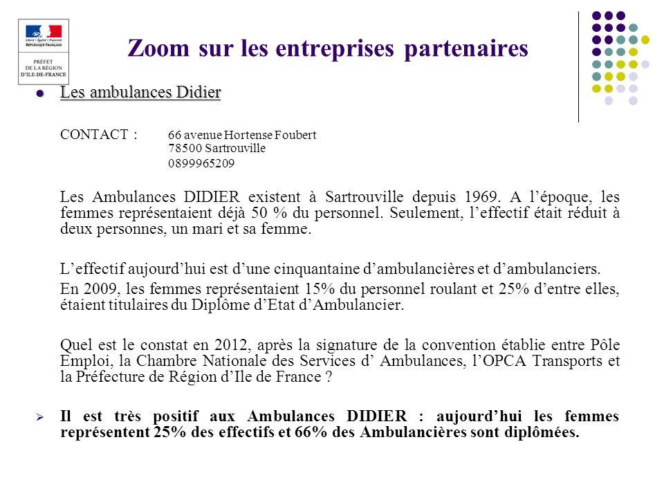 Zoom sur les entreprises partenaires
