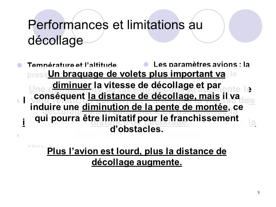 Performances et limitations au décollage