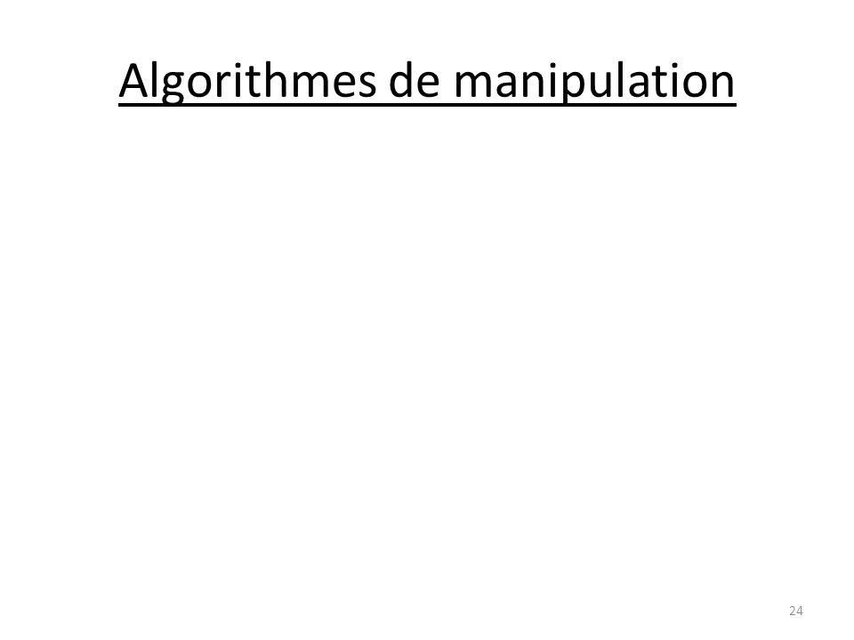 Algorithmes de manipulation