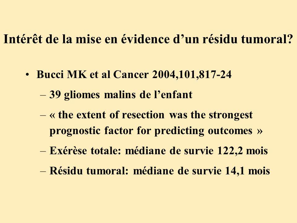 Intérêt de la mise en évidence d'un résidu tumoral