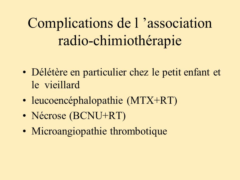 Complications de l 'association radio-chimiothérapie