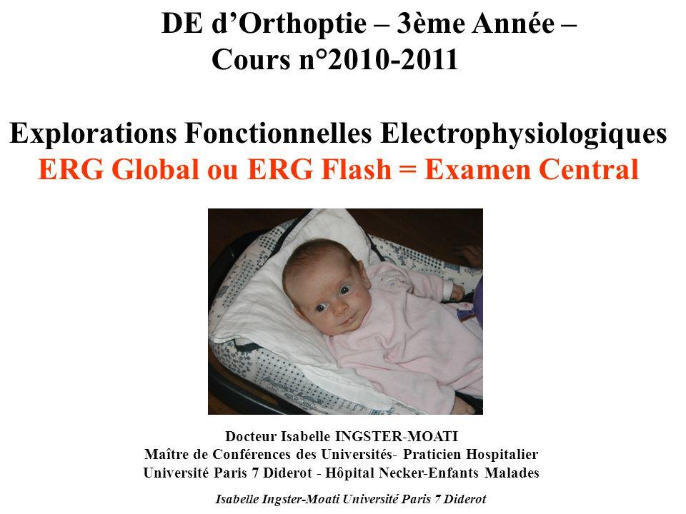 DE d'Orthoptie – 3ème Année – Cours n°2010-2011