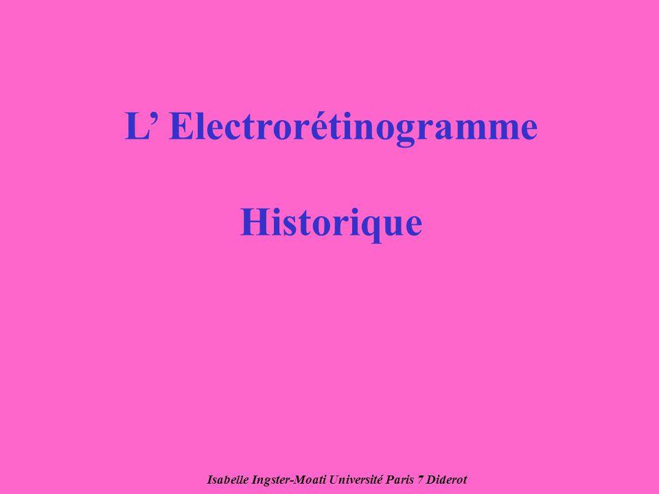 L' Electrorétinogramme Historique