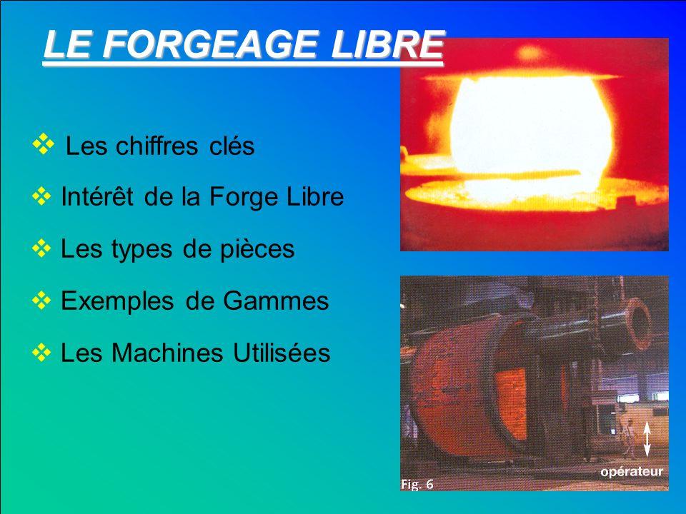 LE FORGEAGE LIBRE Les chiffres clés Intérêt de la Forge Libre