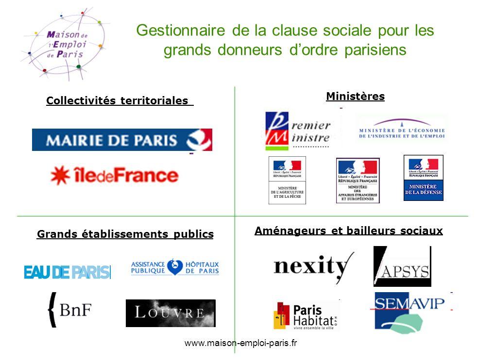 Gestionnaire de la clause sociale pour les grands donneurs d'ordre parisiens