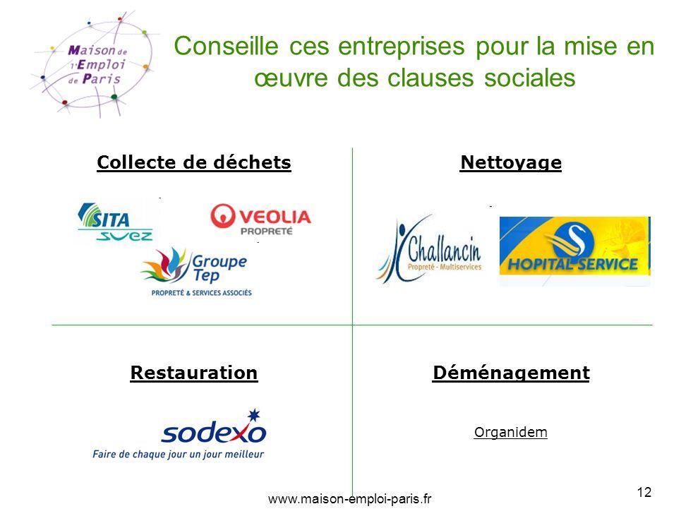 Conseille ces entreprises pour la mise en œuvre des clauses sociales