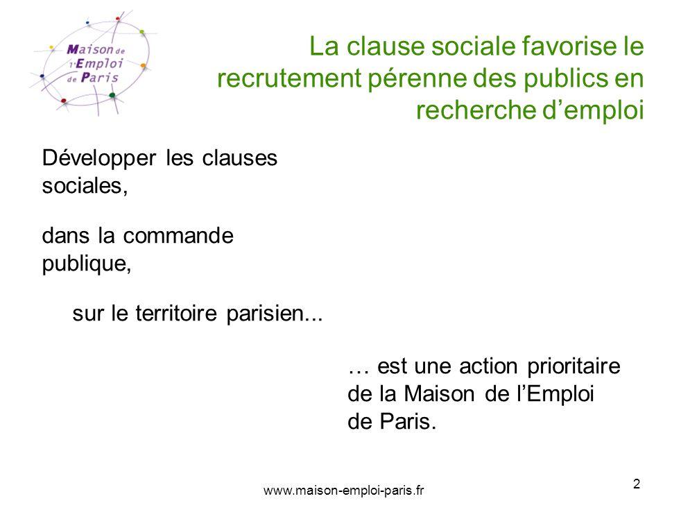 La clause sociale favorise le recrutement pérenne des publics en recherche d'emploi